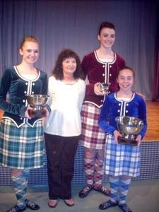 Courtney with Katie, Liz, and Megan